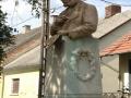 szobor szórás után