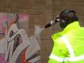 Graffitieltávolítás szódabikarbónával