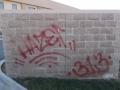 Fal graffiti eltávolítás előtt